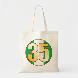 35 NIGERIA Gold Tote Bag