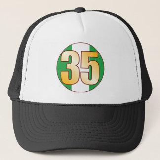 35 NIGERIA Gold Trucker Hat
