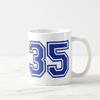35 - number coffee mugs