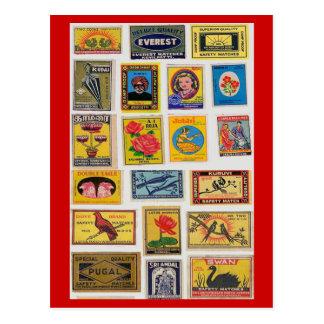 35 Safety Matches Vintage Postcard