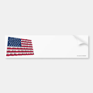35-star flag, Beehive pattern Bumper Stickers