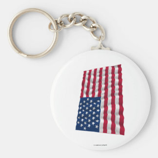 35-star flag, Beehive pattern Basic Round Button Key Ring
