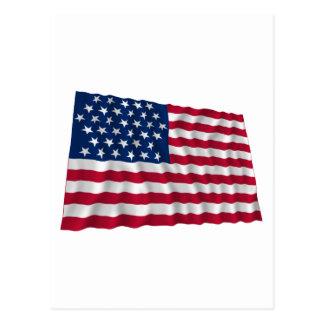 35-star flag, Beehive pattern Postcard