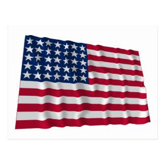 35-star flag postcard