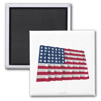35-star flag square magnet