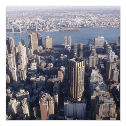 "35""x35"" Canvas Print Empire State building skyline"