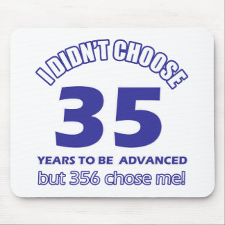 35 years advancement mousepad