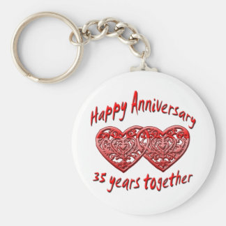 35 Years Together Key Ring