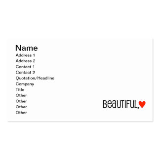 35e2b24 beautiful bright red heart pack of standard business cards