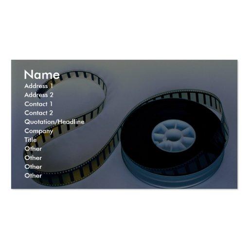 35mm blank film reel business card