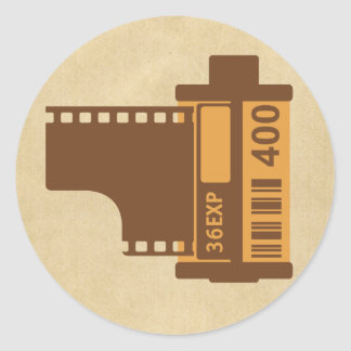 35mm Film Analog Design Classic Round Sticker