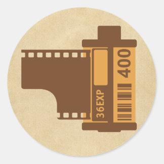 35mm Film Analog Design Round Sticker