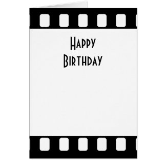 35mm Film Happy Birthday Card