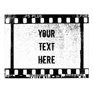 35mm Film Personalized Text Postcard