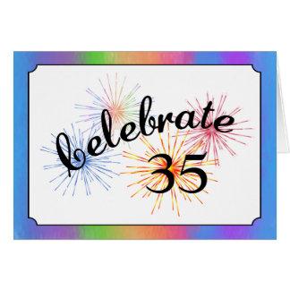 35th Anniversary Celebration Greeting Card