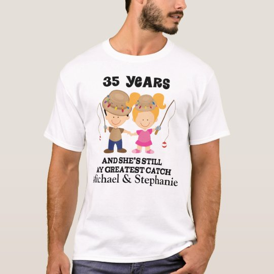 35th Anniversary Custom Gift For Him T-Shirt