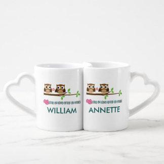 35th Anniversary Matching His Hers Owl Gift Mugs