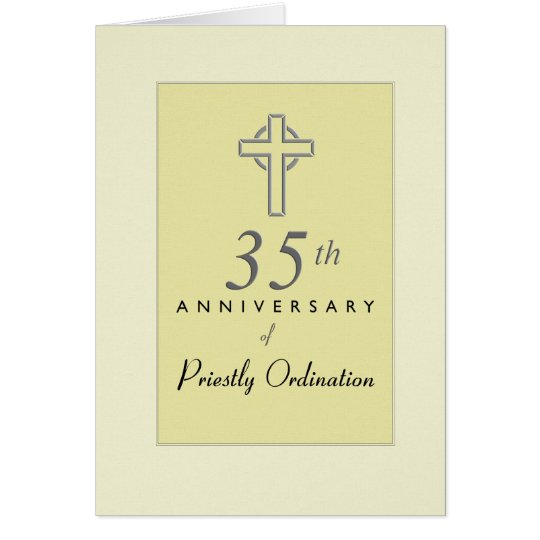 35th Anniversary of Priest with Embossed Cross, Re