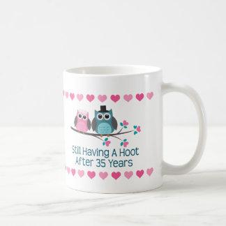 35th Anniversary Owl Couple Mug