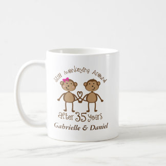 35th Anniversary Personalized His and Hers Mugs