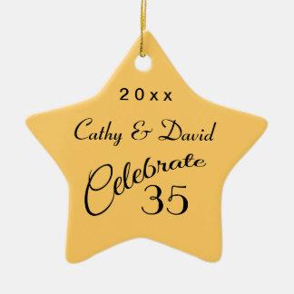 35th Anniversary Star Gift Christmas Ornament
