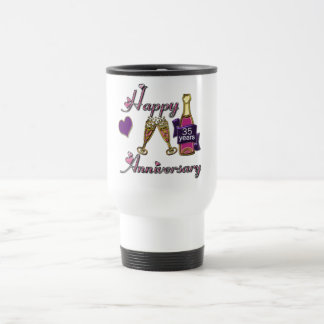 35th. Anniversary Travel Mug