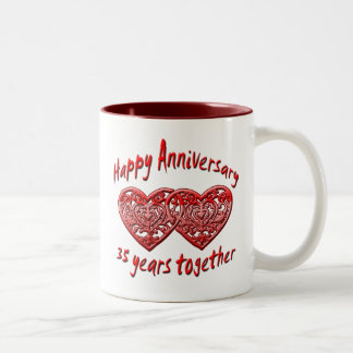 35th. Anniversary Two-Tone Coffee Mug