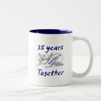 35th. Anniversary Two-Tone Coffee Mug