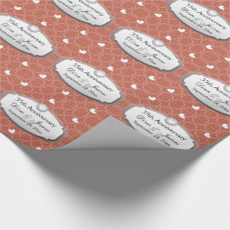 35th Anniversary Wedding Anniversary Coral Z22 Wrapping Paper
