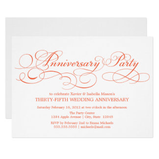 35th Anniversary | White/Coral Card