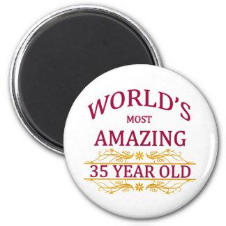 35th. Birthday 6 Cm Round Magnet