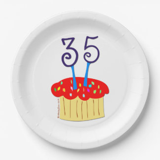 35th Birthday 9 Inch Paper Plate