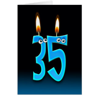 35th Birthday Candles Greeting Card