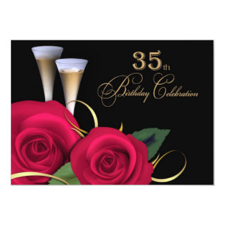 35th Birthday Celebration Custom Invitations