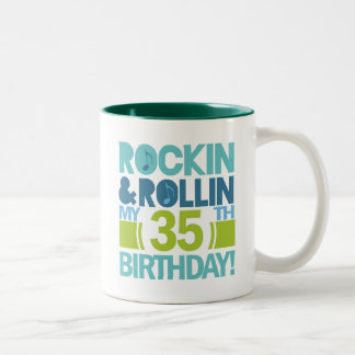 35th Birthday Gift Ideas Two-Tone Coffee Mug