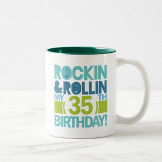 35th Birthday Gift Ideas Two-Tone Mug