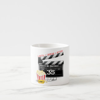35th Birthday Hollywood Movie Party Espresso Cup