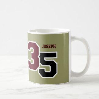 35th Birthday MAROON and SAGE V01TB Basic White Mug