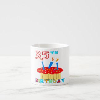 35th Birthday 6 Oz Ceramic Espresso Cup