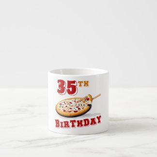 35th Birthday Pizza Party Espresso Mugs