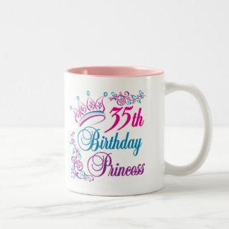 35th Birthday Princess Two-Tone Coffee Mug