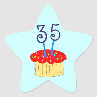 35th Birthday Star Sticker