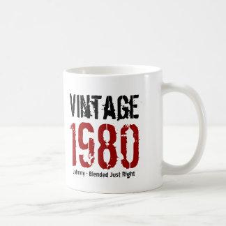 35th Birthday Vintage 1980 or Any Year V01O Basic White Mug