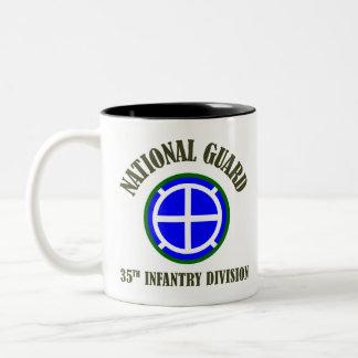 35th Infantry Div | National Guard Two-Tone Coffee Mug