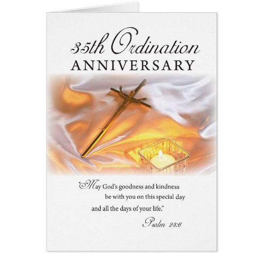 35th Ordination Anniversary, Cross Candle Card
