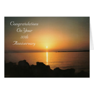 35th Wedding Anniversary Card