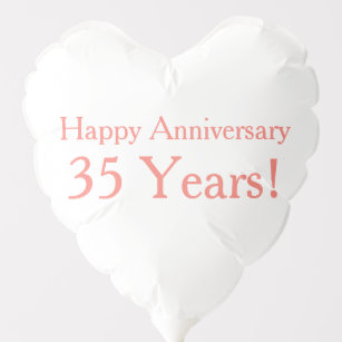 35th Anniversary Decorations Zazzle Co Uk