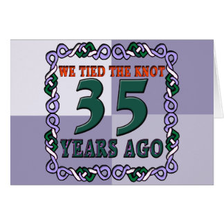 35th wedding anniversary gifts card