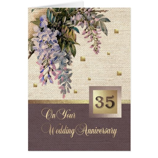 What Is The 35th Wedding Anniversary Gift: 35th Wedding Anniversary Greeting Cards