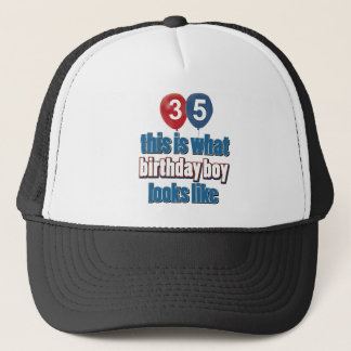 35th year old birthday designs trucker hat